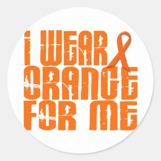 I Wear Orange For Me 16 Round Stickers