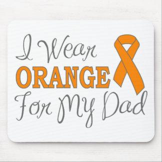 I Wear Orange For My Dad (Orange Ribbon) Mousepad