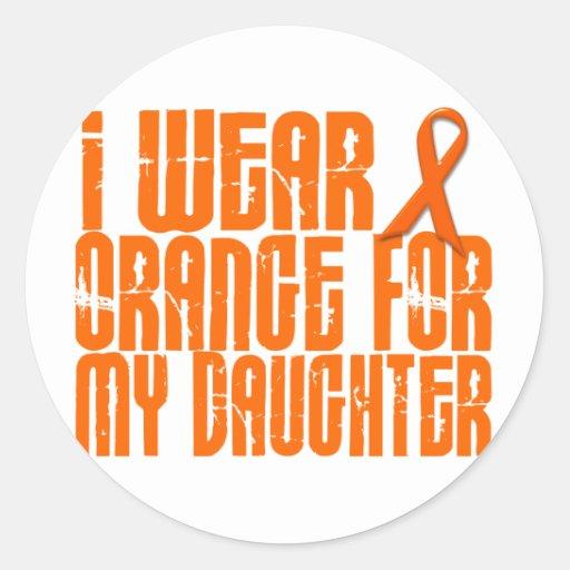 I Wear Orange For My Daughter 16 Round Sticker