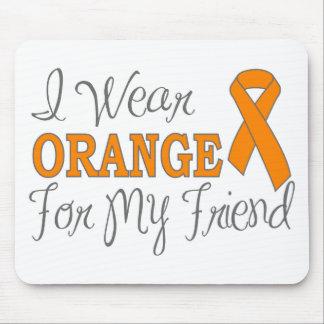 I Wear Orange For My Friend (Orange Ribbon) Mouse Pad