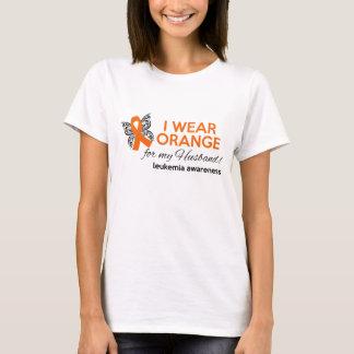I Wear Orange for My Husband - Leukemia Awareness T-Shirt