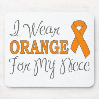 I Wear Orange For My Niece (Orange Ribbon) Mouse Pad