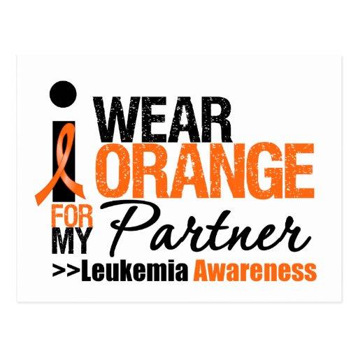 I Wear Orange For My Partner Post Cards