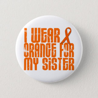 I Wear Orange For My Sister 16 6 Cm Round Badge