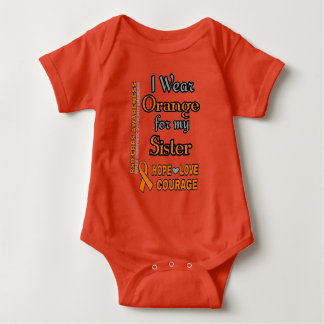 I Wear Orange for...Sister Baby Bodysuit