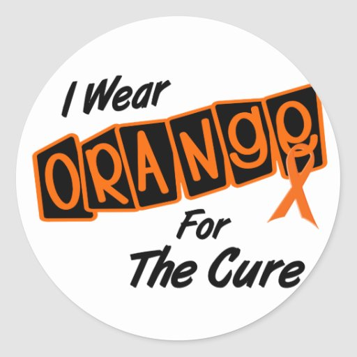 I Wear Orange For The CURE 8 Stickers