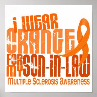 I Wear Orange Son-In-Law Multiple Sclerosis MS Posters
