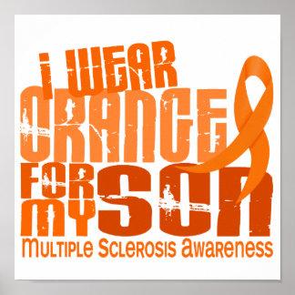 I Wear Orange Son Multiple Sclerosis MS Print