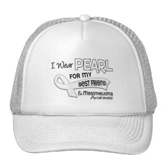 I Wear Pearl For My Best Friend 42 Mesothelioma Mesh Hat