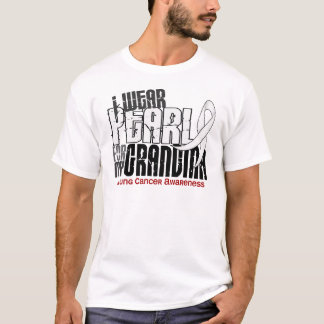 I Wear Pearl For My Grandma 6 Lung Cancer T-Shirt