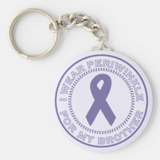 I Wear Periwinkle For My Brother Basic Round Button Key Ring