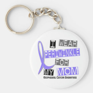 I Wear Periwinkle For My Mom Esophageal Cancer Basic Round Button Key Ring