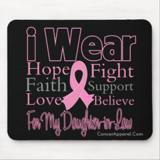 I Wear Pink Collage Daughter-in-Law Breast Cancer Mouse Pad