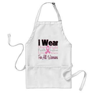 I Wear Pink Collage For All Warriors Breast Cancer Adult Apron