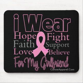 I Wear Pink Collage Girlfriend Breast Cancer Mouse Pad
