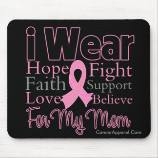 I Wear Pink Collage Mom - Breast Cancer Mouse Pad