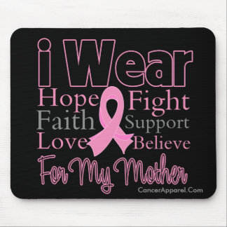 I Wear Pink Collage Mother - Breast Cancer Mouse Pad