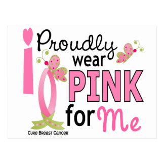 I Wear Pink For Me 27 Breast Cancer Postcard