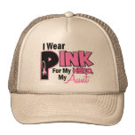 I Wear Pink For My Aunt 19 BREAST CANCER Cap