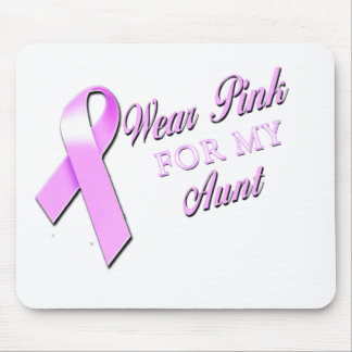 I Wear Pink for my Aunt.png Mouse Pad