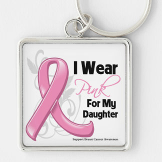 I Wear Pink For My Daughter - Breast Cancer Keychain