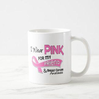 I Wear Pink For My Friend 42 Breast Cancer Basic White Mug