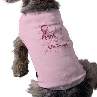 I wear Pink for my Friend Sleeveless Dog Shirt