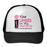 I Wear Pink For My Grandma 9 Breast Cancer Mesh Hat