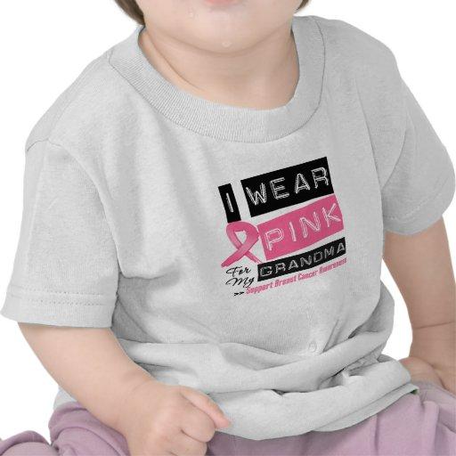 I Wear Pink For My Grandma Breast Cancer Shirts
