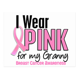 I Wear Pink For My Granny 10 Breast Cancer Postcard