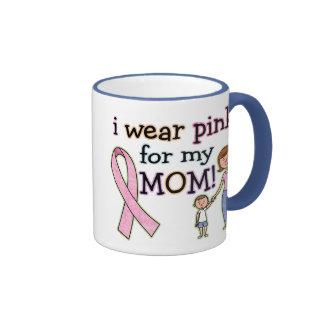 I Wear Pink for My Mom Kids Boys Coffee Mug
