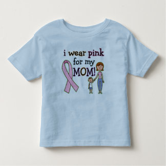 I Wear Pink for My Mom Kids Boys Tshirts
