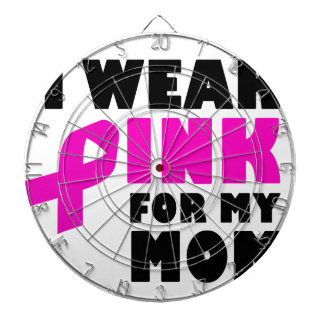 i wear pink for my mother dartboard