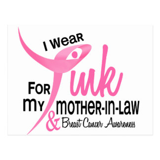I Wear Pink For My Mother-In-Law 41 Postcard