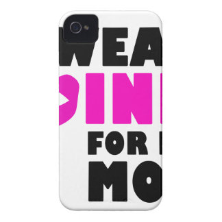 i wear pink for my mother iPhone 4 covers
