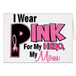 I Wear Pink For My Mum 19 BREAST CANCER Greeting Card