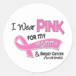 I Wear Pink For My Mummy 42 Breast Cancer Round Sticker