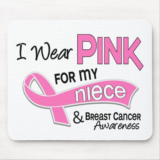I Wear Pink For My Niece 42 Breast Cancer Mouse Pad