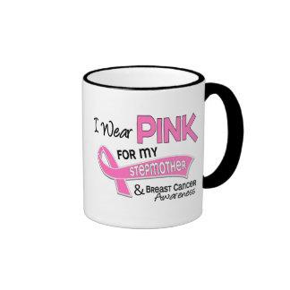 I Wear Pink For My Stepmother 42 Breast Cancer Ringer Mug