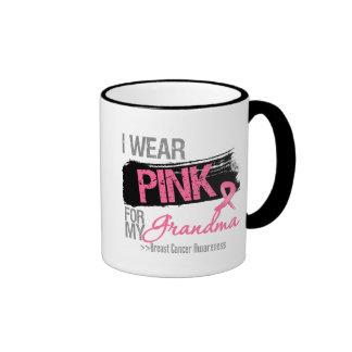 I Wear Pink Ribbon For My Grandma Breast Cancer Coffee Mugs