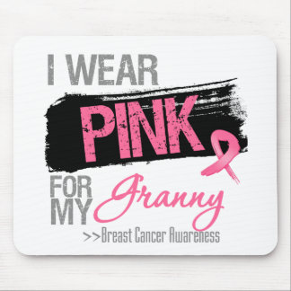 I Wear Pink Ribbon For My Granny Breast Cancer Mousepads