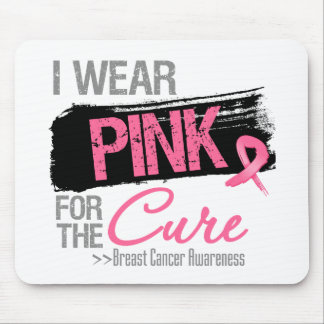 I Wear Pink Ribbon For The Cure Breast Cancer Mouse Pad