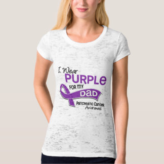 I Wear Purple 42 Dad Pancreatic Cancer T-Shirt
