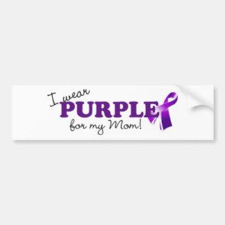 I Wear Purple Bumper Sticker