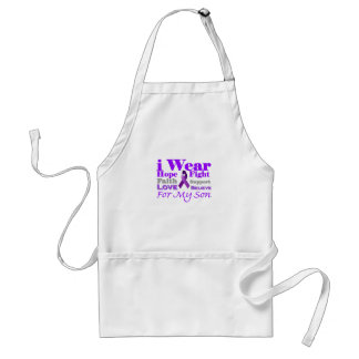 I Wear Purple Epilepsy for My Son Products Aprons