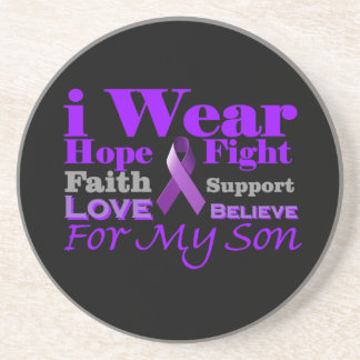 I Wear Purple (Epilepsy) for My Son Products Coaster