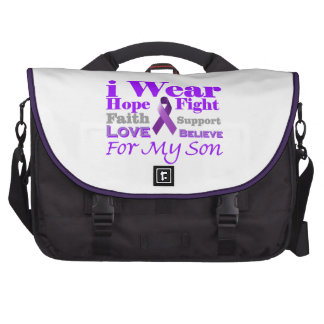 I Wear Purple Epilepsy for My Son Products Laptop Bags