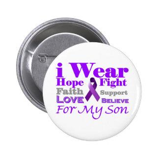I Wear Purple (Epilepsy) for My Son Products Pins