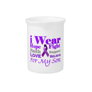 I Wear Purple Epilepsy for My Son Products Pitcher
