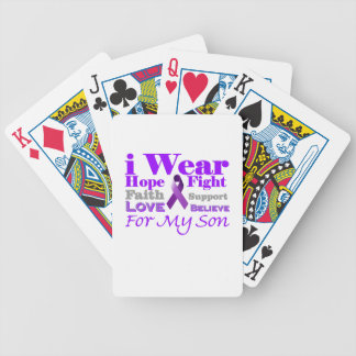 I Wear Purple (Epilepsy) for My Son Products Bicycle Poker Cards